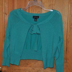 Pretty Ann Taylor Turquoise Shrug Sweater